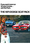 Challenger Digital Art - The 1971 Dodge Scat Pack by Digital Repro Depot