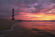 Cape Hatteras National Seashore Framed Prints - The 198-foot tall Framed Print by Steve Winter