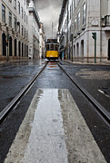 Tram Photo Framed Prints - The 28 Framed Print by Jorge Maia