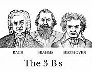 Classical Music Posters - The 3 Bs Poster by Paul Helm