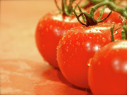 Grocery Store Prints - The 3 Tomatoes Print by Mark Delfs