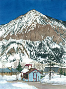 Crested Butte Framed Prints - The 4-Way Stop Framed Print by Barbara Jewell