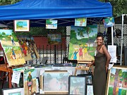 Nicole Jean-louis Paintings - THE 40th INTERNATIONAL AFRICAN ARTS FESTIVAL by Nicole Jean-Louis