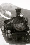 Steam And Smoke Prints - The 480 in Black and White Print by Angie Wingerd