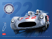 Stirling Moss Posters - The 722 Poster by Ron Riffle
