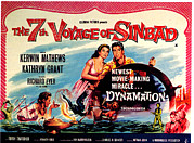 1950s Movies Framed Prints - The 7th Voyage Of Sinbad, Aka The Framed Print by Everett