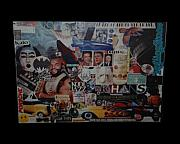 80s Cars Framed Prints - THE 80 s COLLAGE Framed Print by Rob Hans