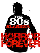 80s Framed Prints - The 80s Slasher Framed Print by Luke Kegley