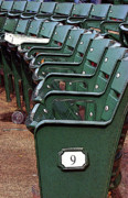 Empty Chairs Digital Art Posters - The 9th at Wrigley Poster by Joanne Coyle