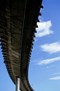 Architectural Feature Photos - The A55 viaduct seen from underneath in Marseille by Sami Sarkis