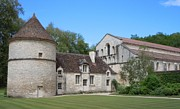 Historic Buildings Posters - The Abbey de Fontenay Poster by Marilyn Dunlap