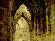 Grunge Digital Art - The Abbey by Margaret Hormann Bfa