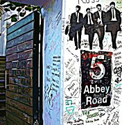 Abbey Road Mixed Media Prints - The Abbey Wall Print by Lauranns Etab