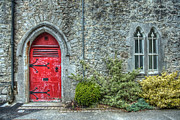 Adare Acrylic Prints - The Abbeys Red Door Acrylic Print by Noah Katz