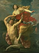 Kidnap Paintings - The Abduction of Deianeira by  Centaur Nessus