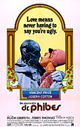Horror Movies Framed Prints - The Abominable Dr. Phibes, From Left Framed Print by Everett