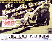 Horror Movies Posters - The Abominable Snowman, Aka The Poster by Everett