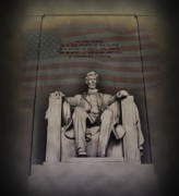 Abraham Digital Art Prints - The Abraham Lincoln Memorial Print by Bill Cannon