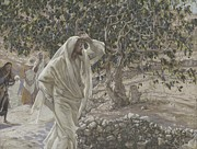 Tissot Painting Metal Prints - The Accursed Fig Tree Metal Print by Tissot