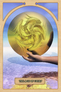 Mystical Digital Art Prints - The Ace of Coins Print by John Edwards