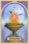 Mystical Digital Art Prints - The Ace of Cups Print by John Edwards