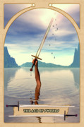 Prediction Framed Prints - The Ace of Swords Framed Print by John Edwards