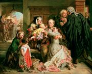 England Paintings - The Acquittal by Abraham Solomon
