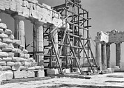 Athens Ruins Framed Prints - The Acropolis.  The Parthenon.  One Framed Print by W. Robert Moore