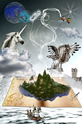 Reading Digital Art Posters - The adventure of reading Poster by Angel Jesus De la Fuente