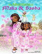 Sasha-obama Framed Prints - The Adventures Framed Print by David Pedemonte-Forte