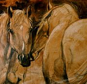 Horse Portraits Prints - The Advisor Print by Mary Leslie
