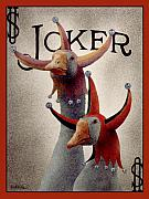 Joker Prints - The Advisors...Hardly a Full Deck... Print by Will Bullas