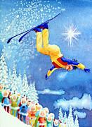 The Aerial Skier 18 Print by Hanne Lore Koehler
