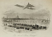 Bird-like Framed Prints - The Aerial Steam Carriage Proposed Framed Print by Everett
