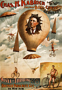 Advertisment Posters - The Aeronaut Chas H. Kabrich Poster by Marcie Adams Eastmans Studio Photography