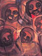 Nappy Head Art Mixed Media - The African Family in America by Robert Daniels