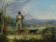 Spaniel Paintings - The Afternoon Shoot   by Philip Reinagle