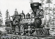 Transfer Drawings Prints - The Age of Steam Print by James Williamson