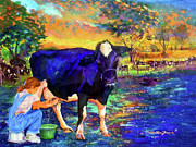 Puerto Rico Paintings - The agronomist by Estela Robles