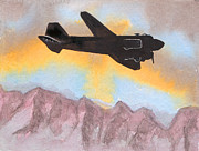 Dakota Paintings - The Airliner by R Kyllo