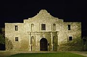 Antonio Metal Prints - The Alamo in San Antonio Texas Metal Print by Carol M Highsmith