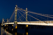 Queen Victoria Metal Prints - The Albert Bridge London Metal Print by David Pyatt