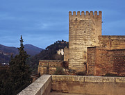 Alhambra Posters - The Alcazaba The Alhambra Poster by Guido Montanes Castillo
