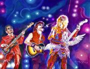 Rock Stars Paintings - The Alfee  by David Lloyd Glover