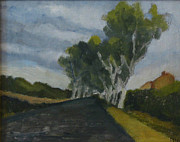 South Of France Painting Originals - The Allee by Peter Maher