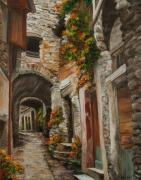 Stone Buildings Framed Prints - The Alleyway Framed Print by Charlotte Blanchard