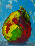 Pear Prints Framed Prints - The Amazing Pear Framed Print by Patricia Awapara