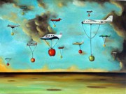 Surreal Paintings - The Amazing Race 3 by Leah Saulnier The Painting Maniac
