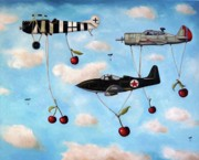 Airplane Paintings - The Amazing Race 5 by Leah Saulnier The Painting Maniac