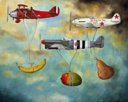 Airplane Metal Prints - The Amazing Race 6 Metal Print by Leah Saulnier The Painting Maniac
